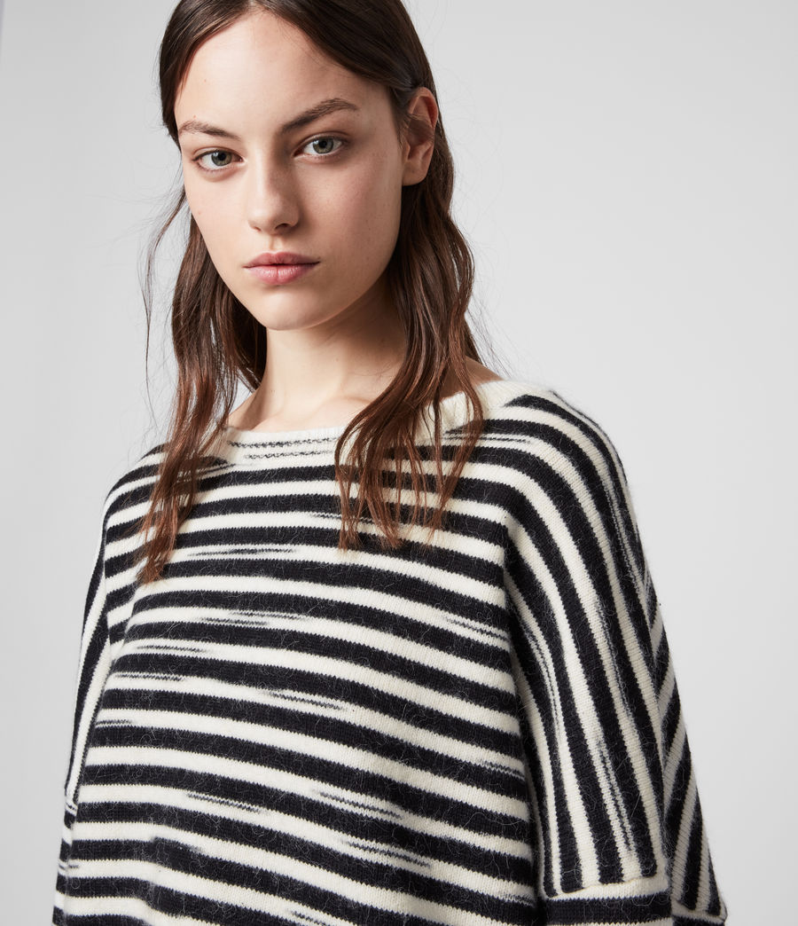 Womens Bretta Sweater (white_black) - Image 2