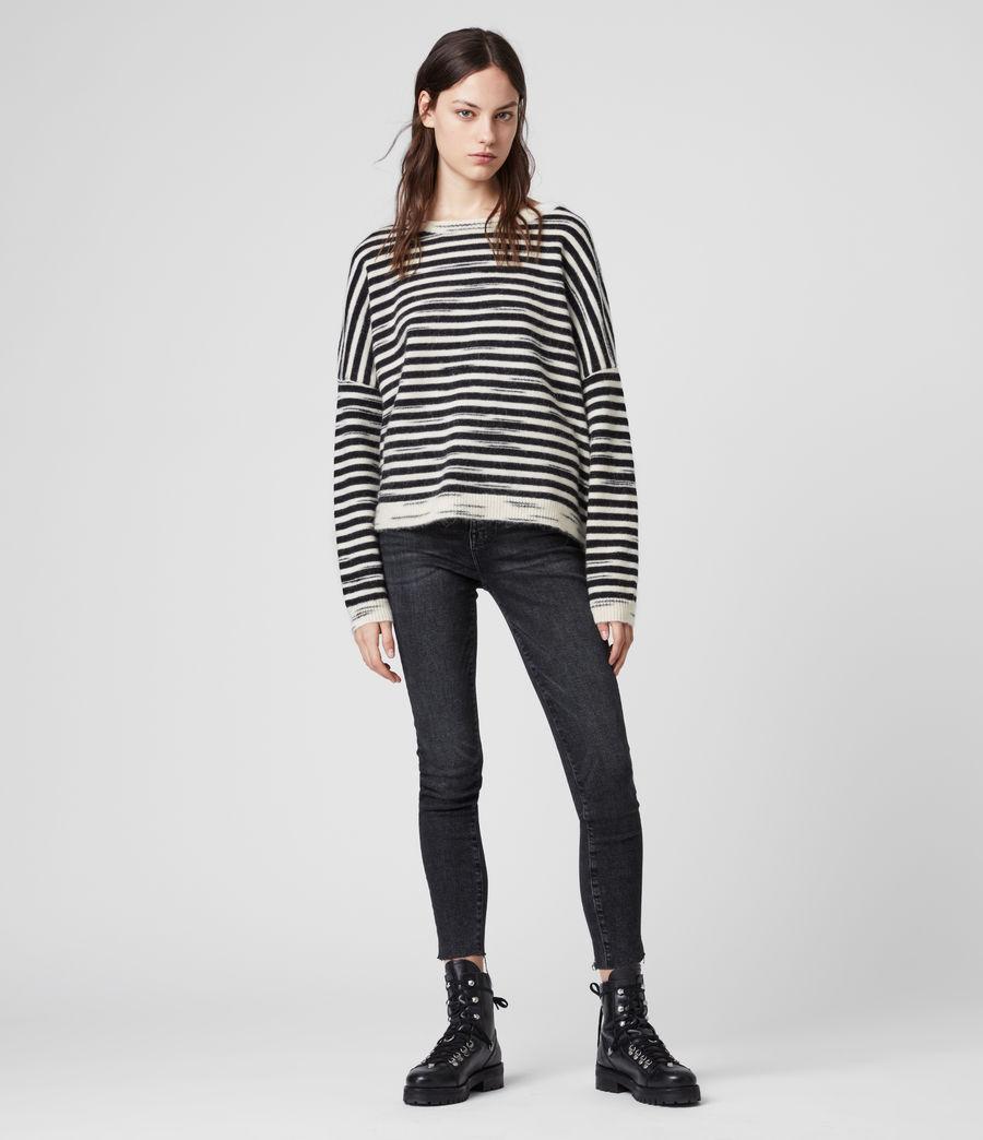 Womens Bretta Sweater (white_black) - Image 3