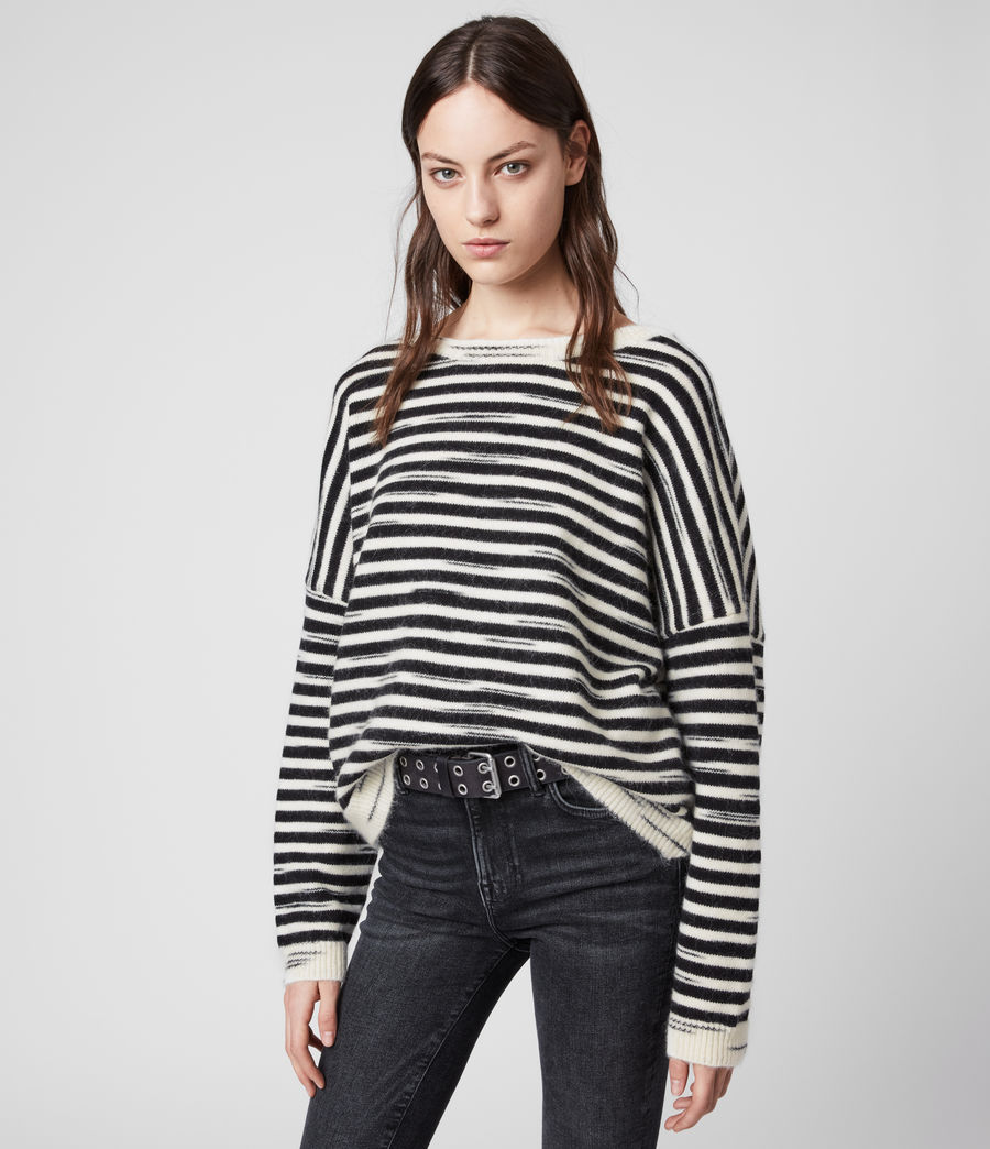 Womens Bretta Sweater (white_black) - Image 4