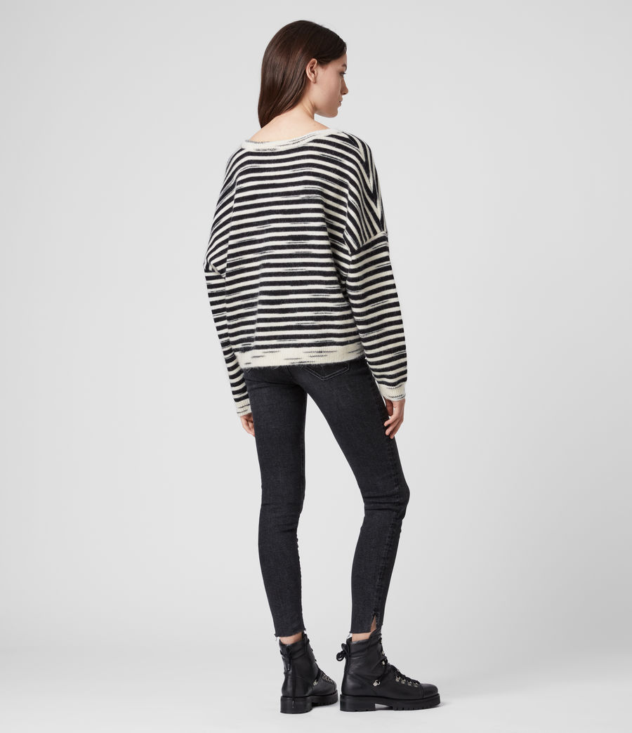 Womens Bretta Sweater (white_black) - Image 5