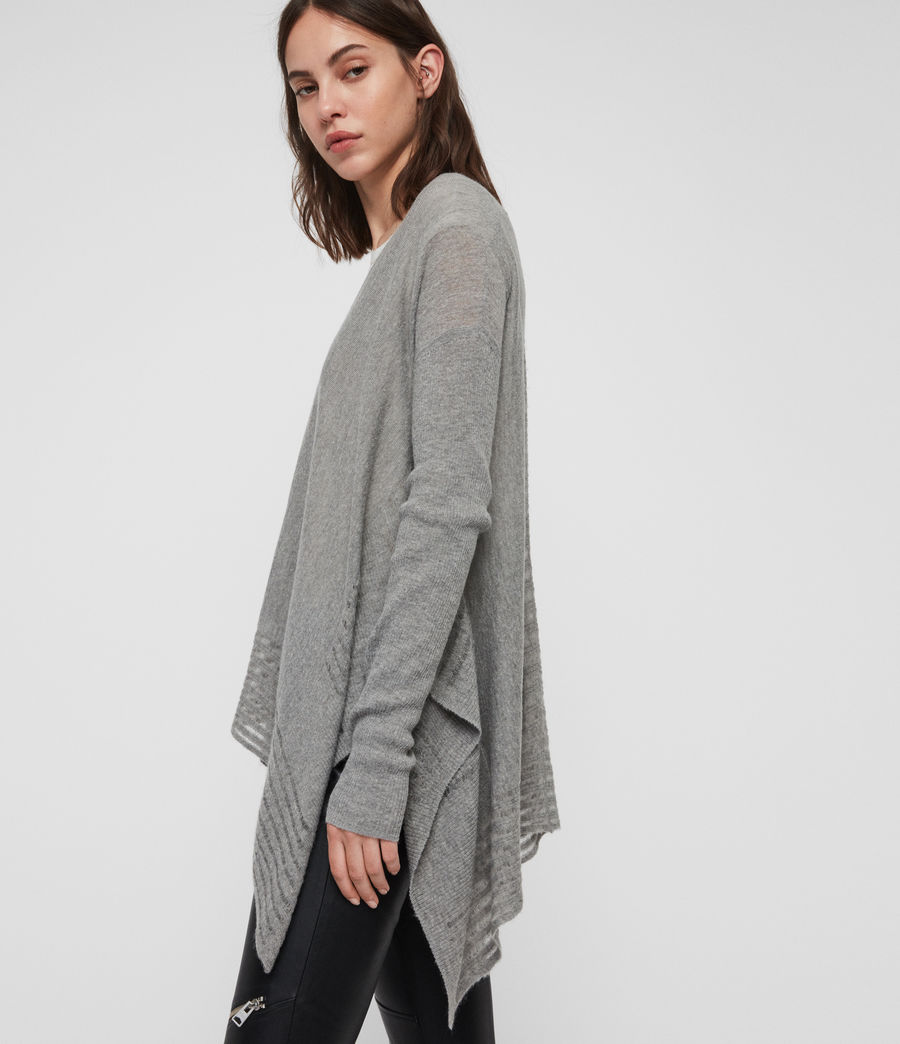 Womens Mara V-Neck Sweater (pale_grey) - Image 2