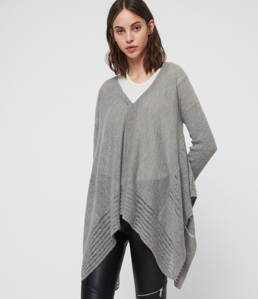 Womens Mara V-Neck Sweater (pale_grey) - Image 3