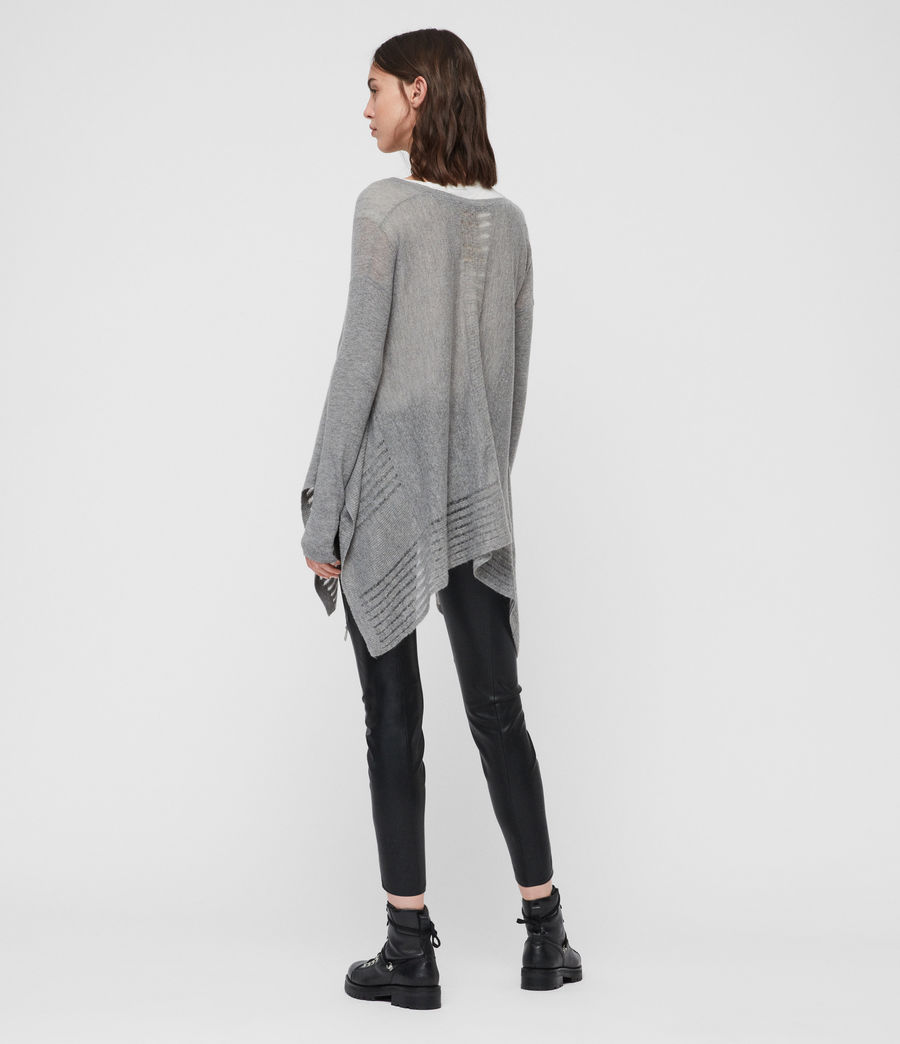 Womens Mara V-Neck Sweater (pale_grey) - Image 6