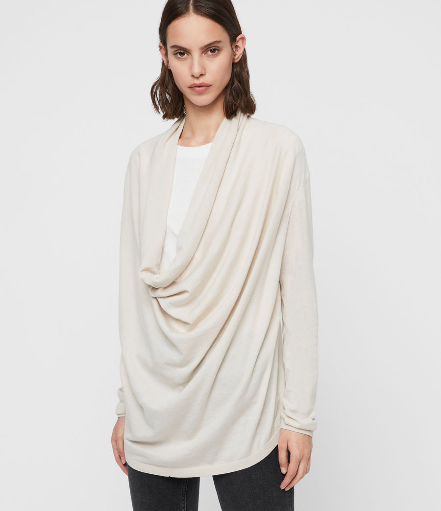 Mujer Remmy Cowl Neck Sweater (porcelain_white) - Image 1