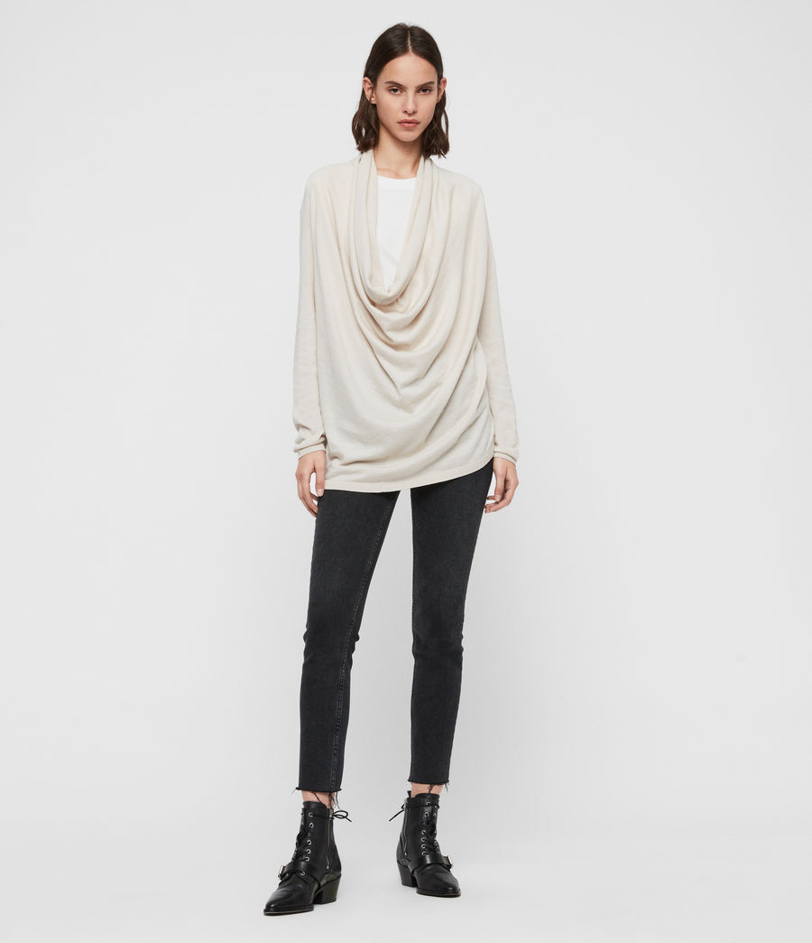 Womens Remmy Cowl Neck Sweater (porcelain_white) - Image 2