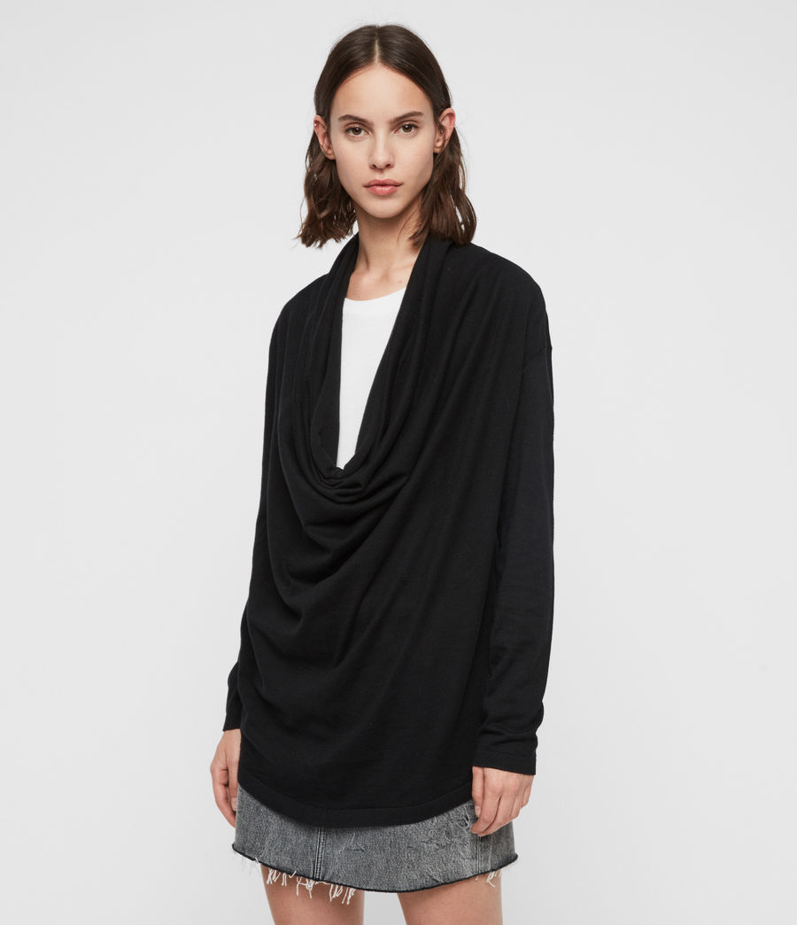Mujer Remmy Cowl Neck Sweater (black) - Image 1
