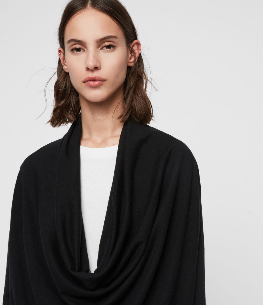 Mujer Remmy Cowl Neck Sweater (black) - Image 2