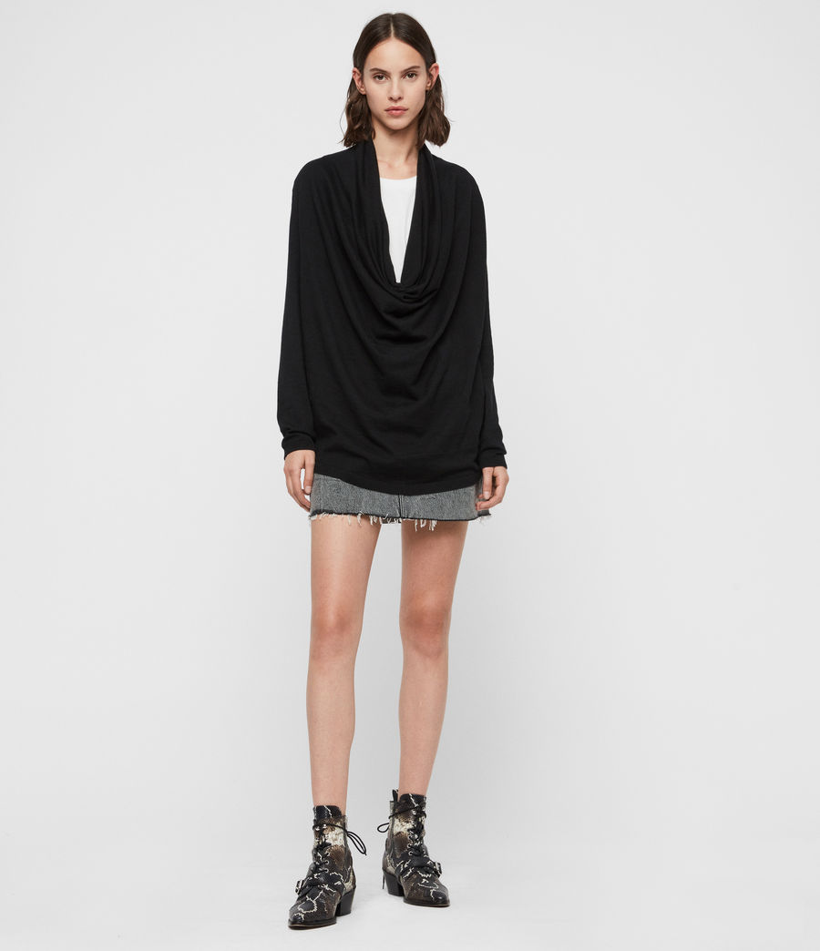 Mujer Remmy Cowl Neck Sweater (black) - Image 3