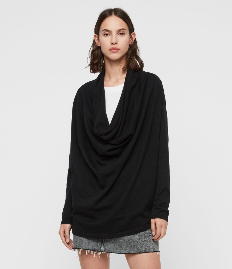 Mujer Remmy Cowl Neck Sweater (black) - Image 4