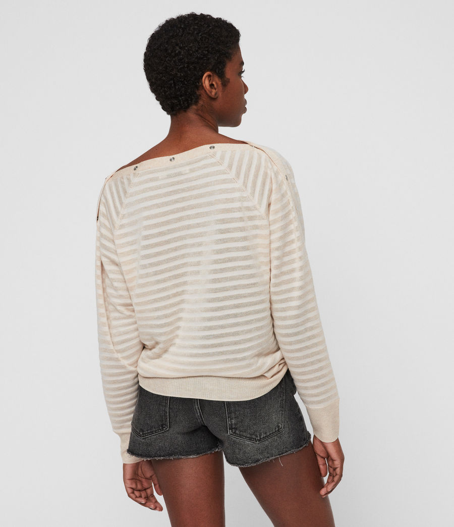Womens Elle Stripe Sweater (parchment_pink) - Image 5