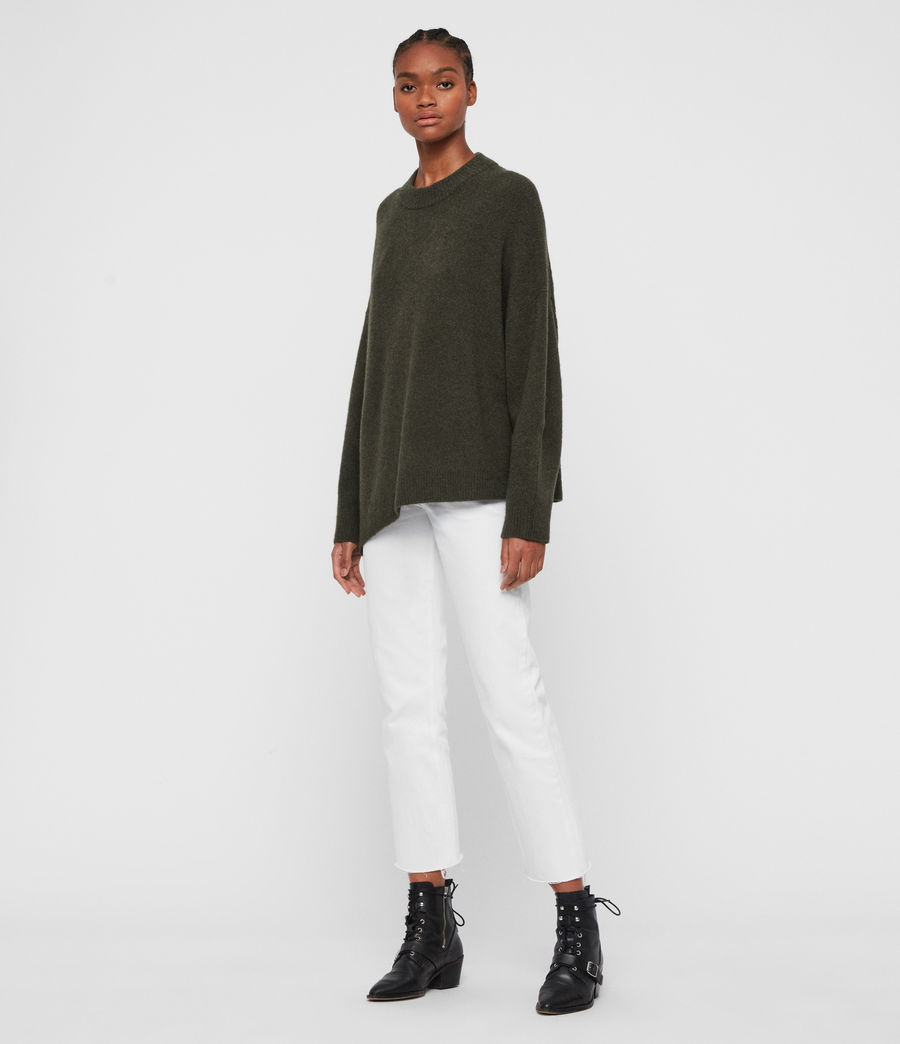 Women's Alley Jumper (military_green) - Image 1