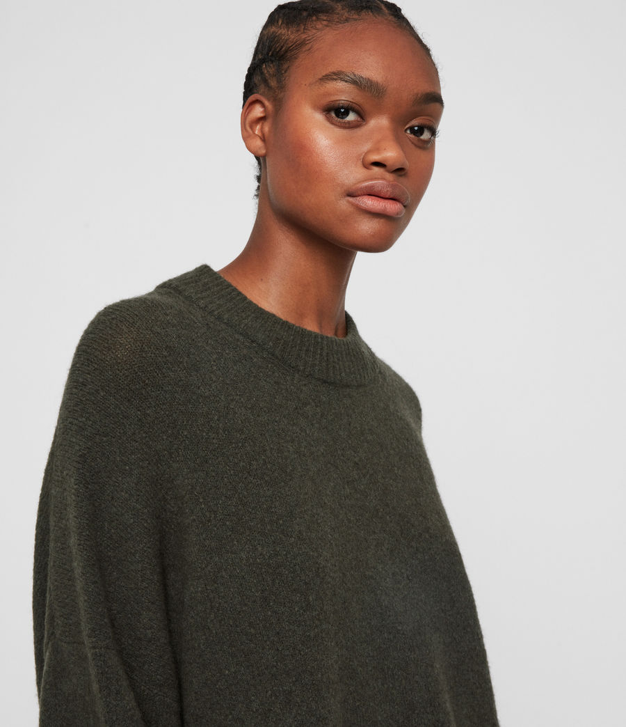 Women's Alley Jumper (military_green) - Image 2