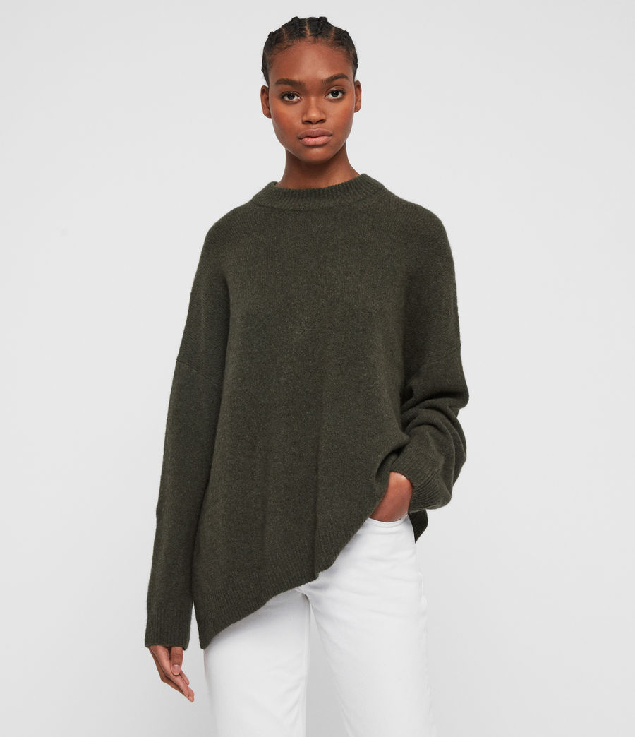 Women's Alley Jumper (military_green) - Image 3