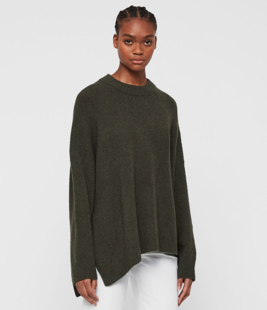 Women's Alley Jumper (military_green) - Image 4
