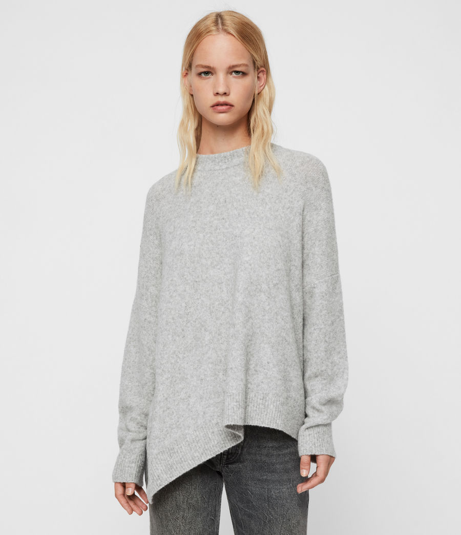 Damen Alley Pullover (pale_grey_marl) - Image 1