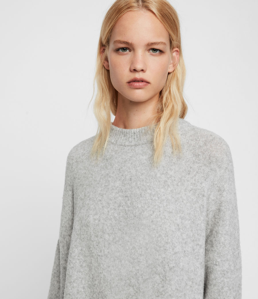 Womens Alley Sweater (pale_grey_marl) - Image 2