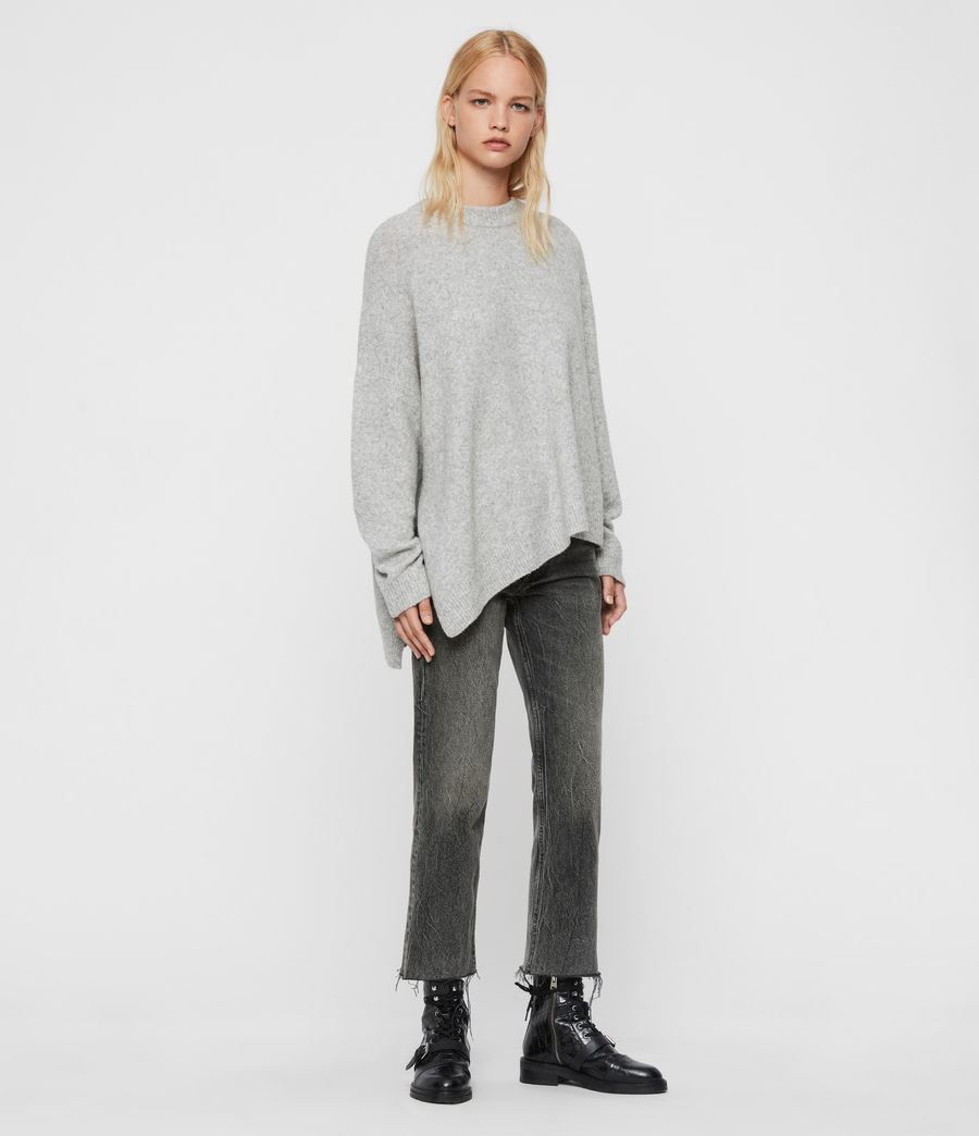 Womens Alley Sweater (pale_grey_marl) - Image 3