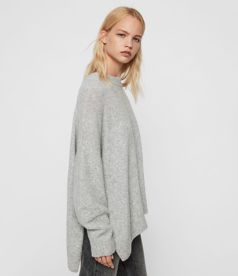 Womens Alley Sweater (pale_grey_marl) - Image 4