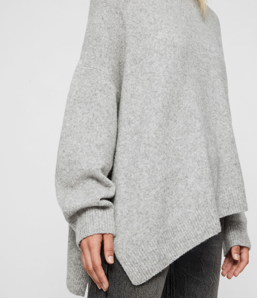 Womens Alley Sweater (pale_grey_marl) - Image 5