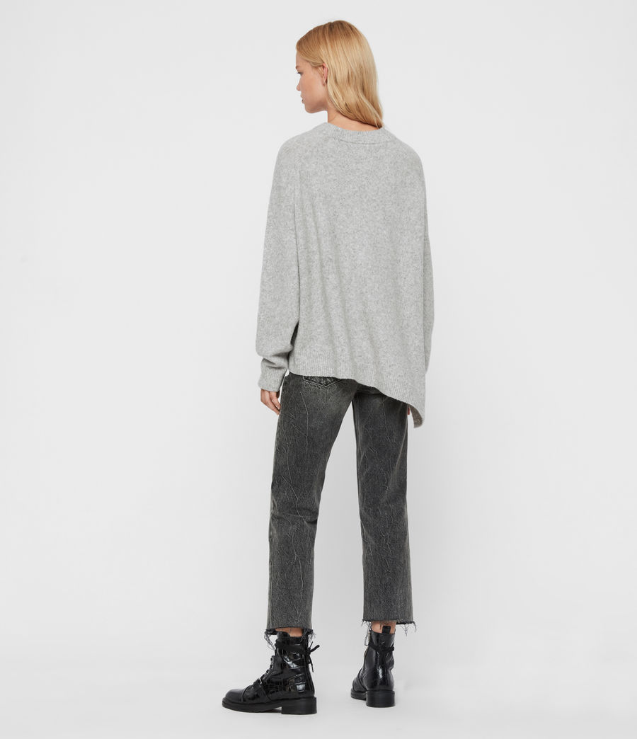Womens Alley Sweater (pale_grey_marl) - Image 6