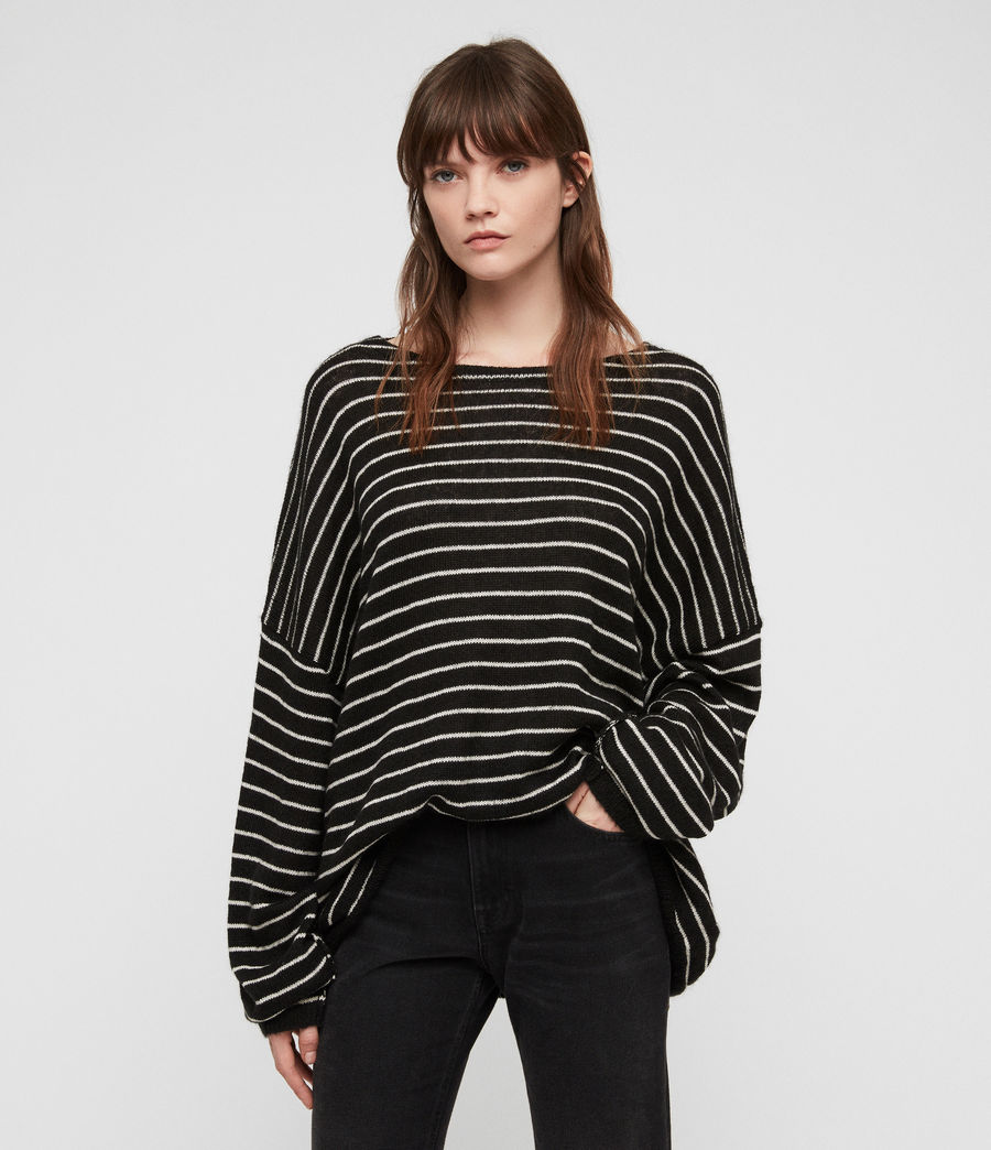 Damen Marty Pullover (black_white) - Image 1
