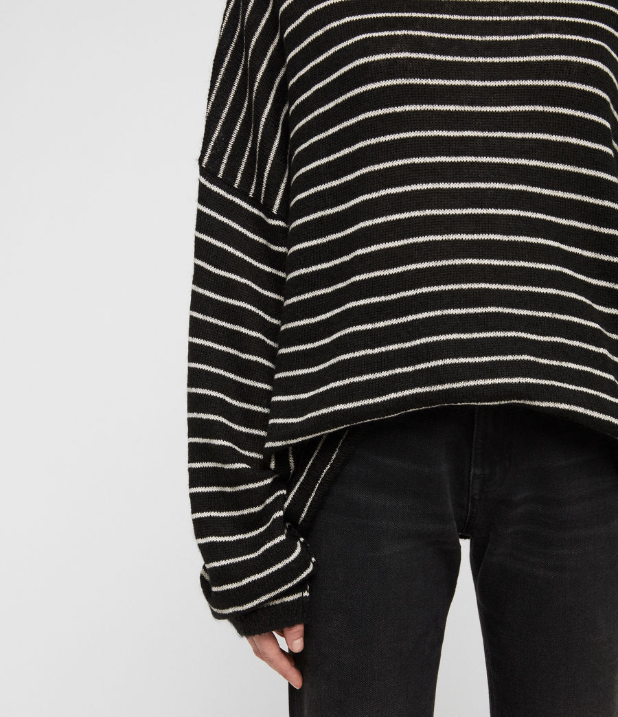 Damen Marty Pullover (black_white) - Image 2