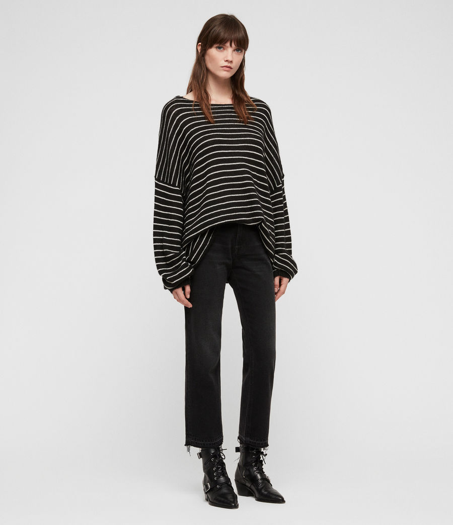 Damen Marty Pullover (black_white) - Image 3