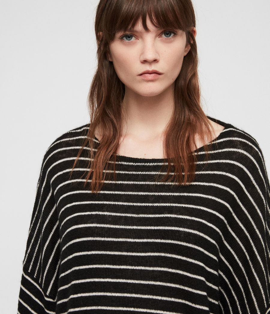 Damen Marty Pullover (black_white) - Image 4