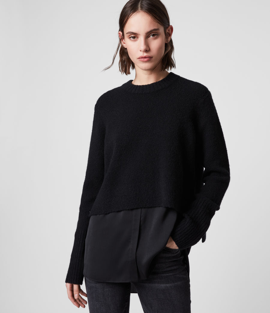 Womens Tierny Shirt Sweater (black) - Image 1
