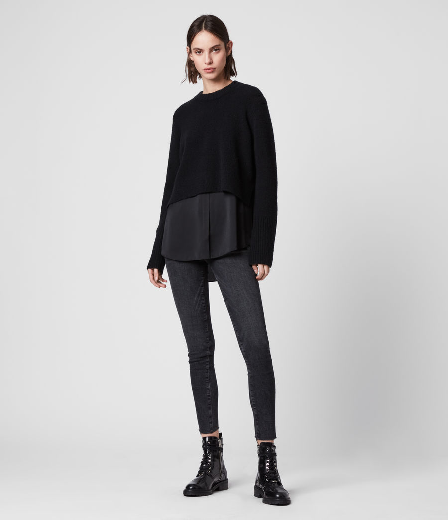 Womens Tierny Shirt Sweater (black) - Image 3