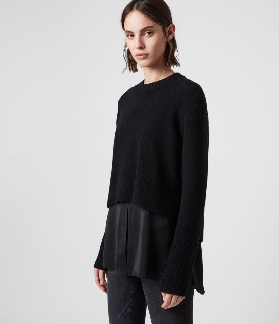 Womens Tierny Shirt Sweater (black) - Image 4