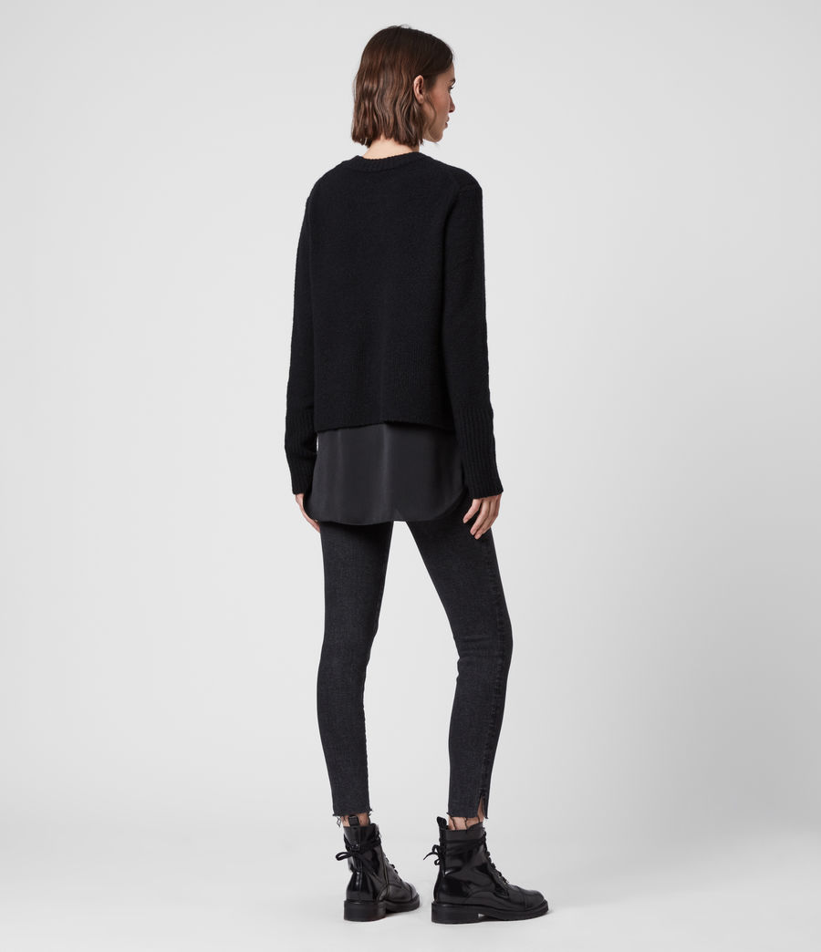 Womens Tierny Shirt Sweater (black) - Image 6