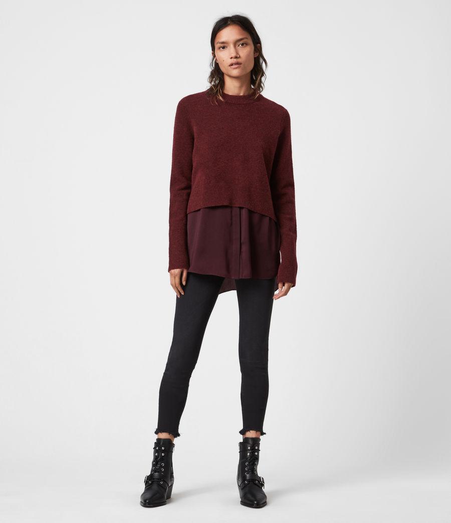 Womens Tierny Shirt Sweater (shiraz_red_merlot) - Image 1