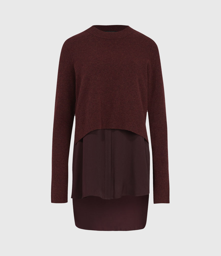 Womens Tierny Shirt Sweater (shiraz_red_merlot) - Image 2