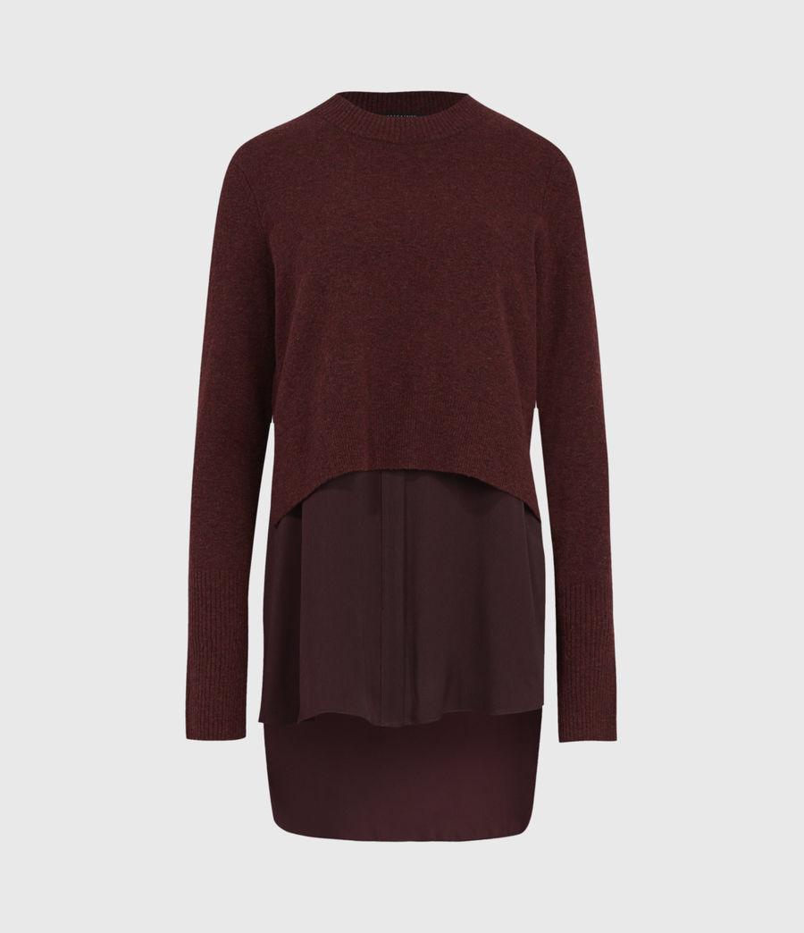 Women's Tierny Shirt Jumper (shiraz_red_merlot) - Image 2