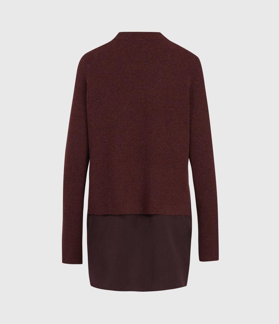 Womens Tierny Shirt Sweater (shiraz_red_merlot) - Image 3
