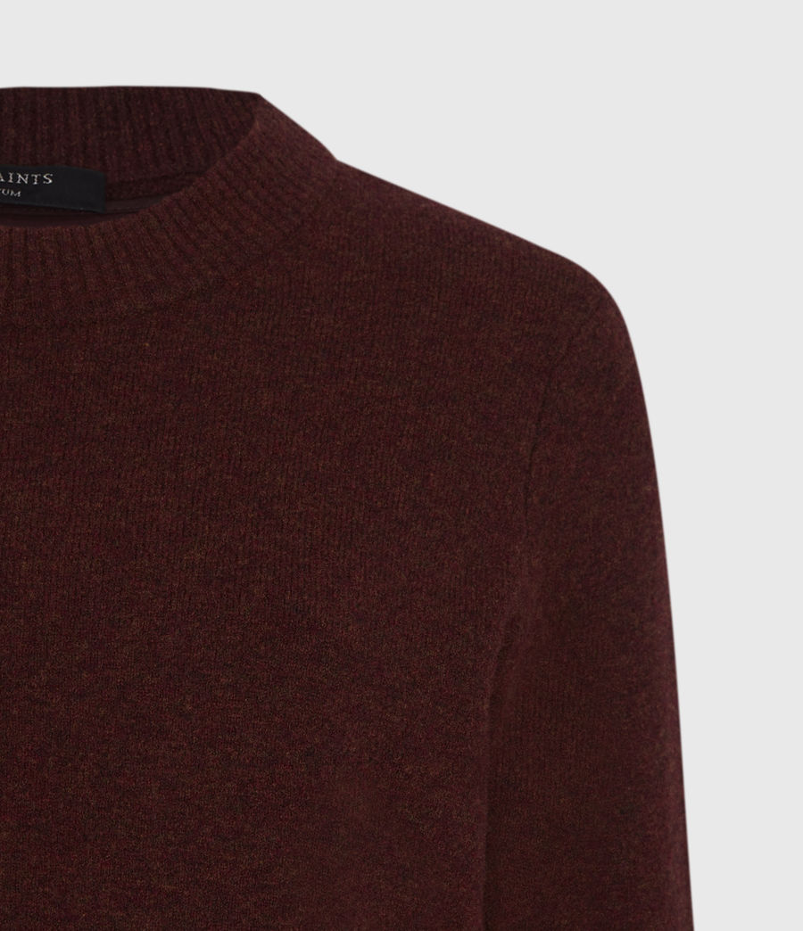Womens Tierny Shirt Sweater (shiraz_red_merlot) - Image 4