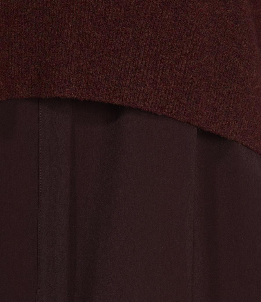 Womens Tierny Shirt Sweater (shiraz_red_merlot) - Image 5