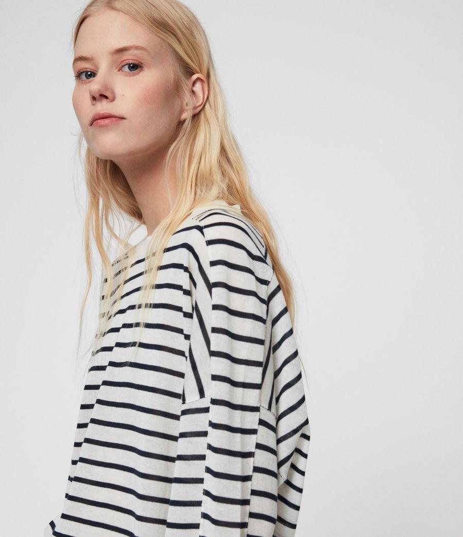 Womens Salina Sweater (chk_white_ink_navy) - Image 3