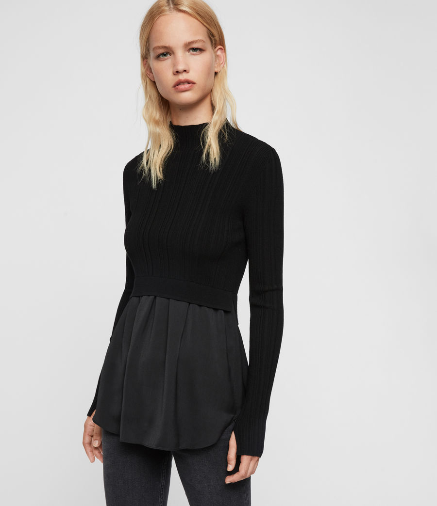 Women's Karla Shirt Jumper (black) - Image 1