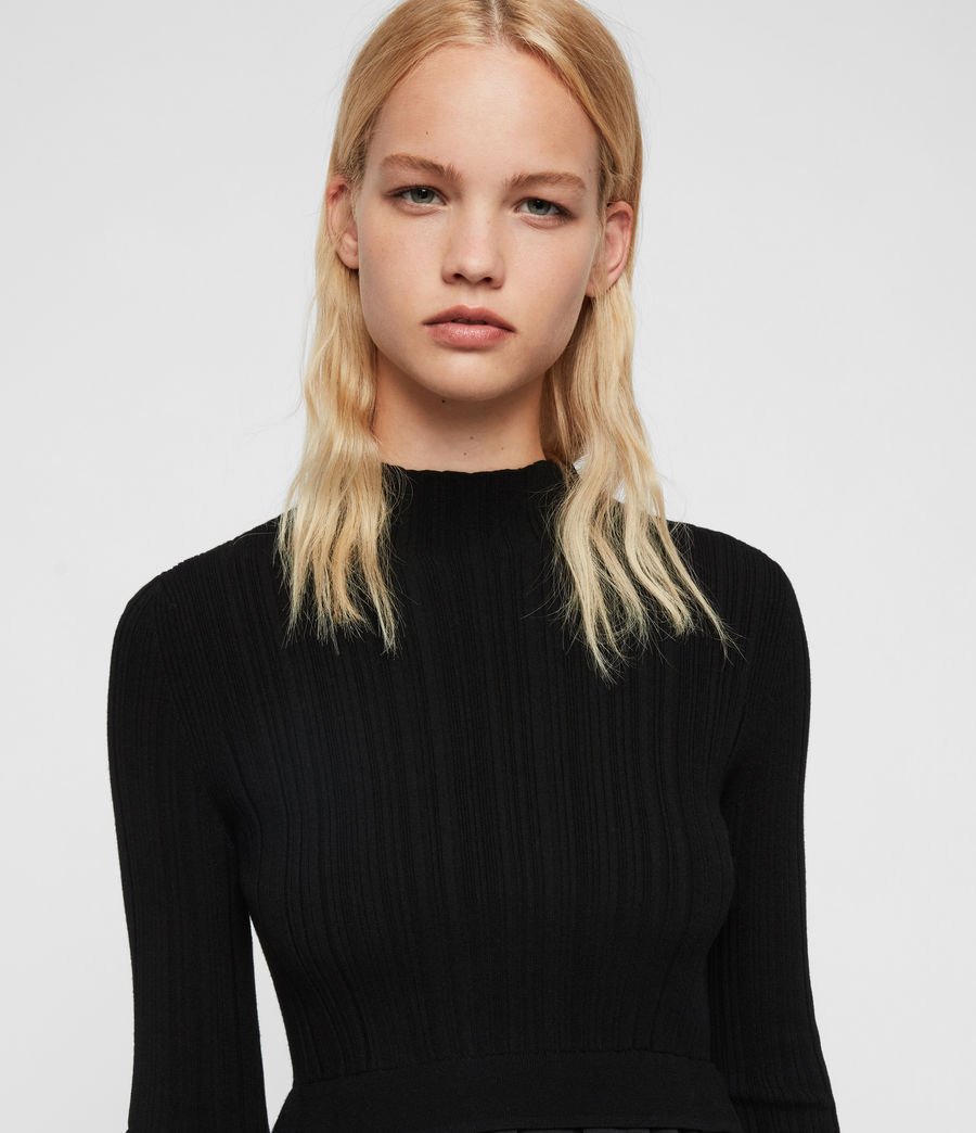 Women's Karla Shirt Jumper (black) - Image 2