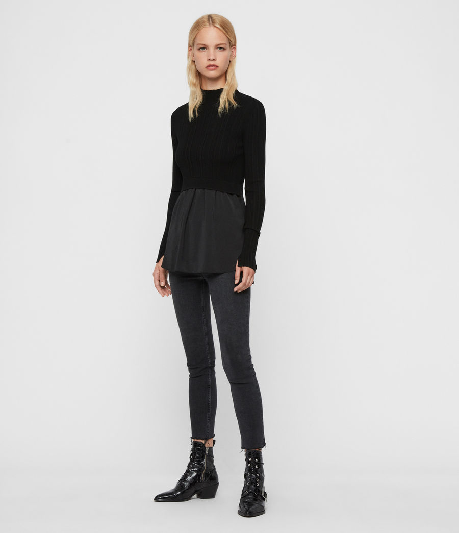 Women's Karla Shirt Jumper (black) - Image 3