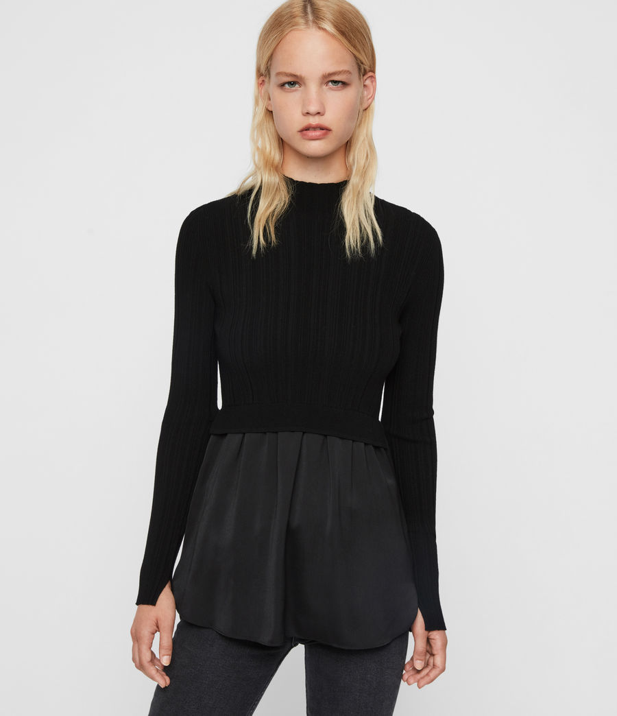 Women's Karla Shirt Jumper (black) - Image 4