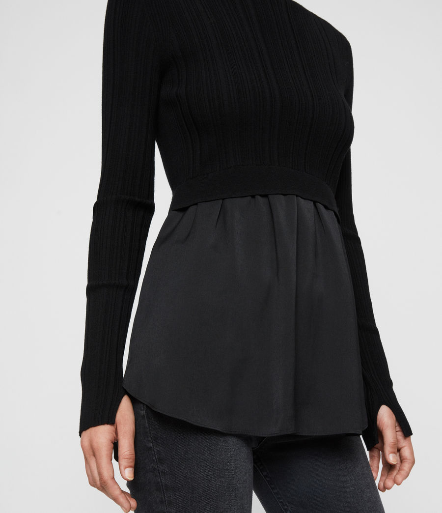 Women's Karla Shirt Jumper (black) - Image 5