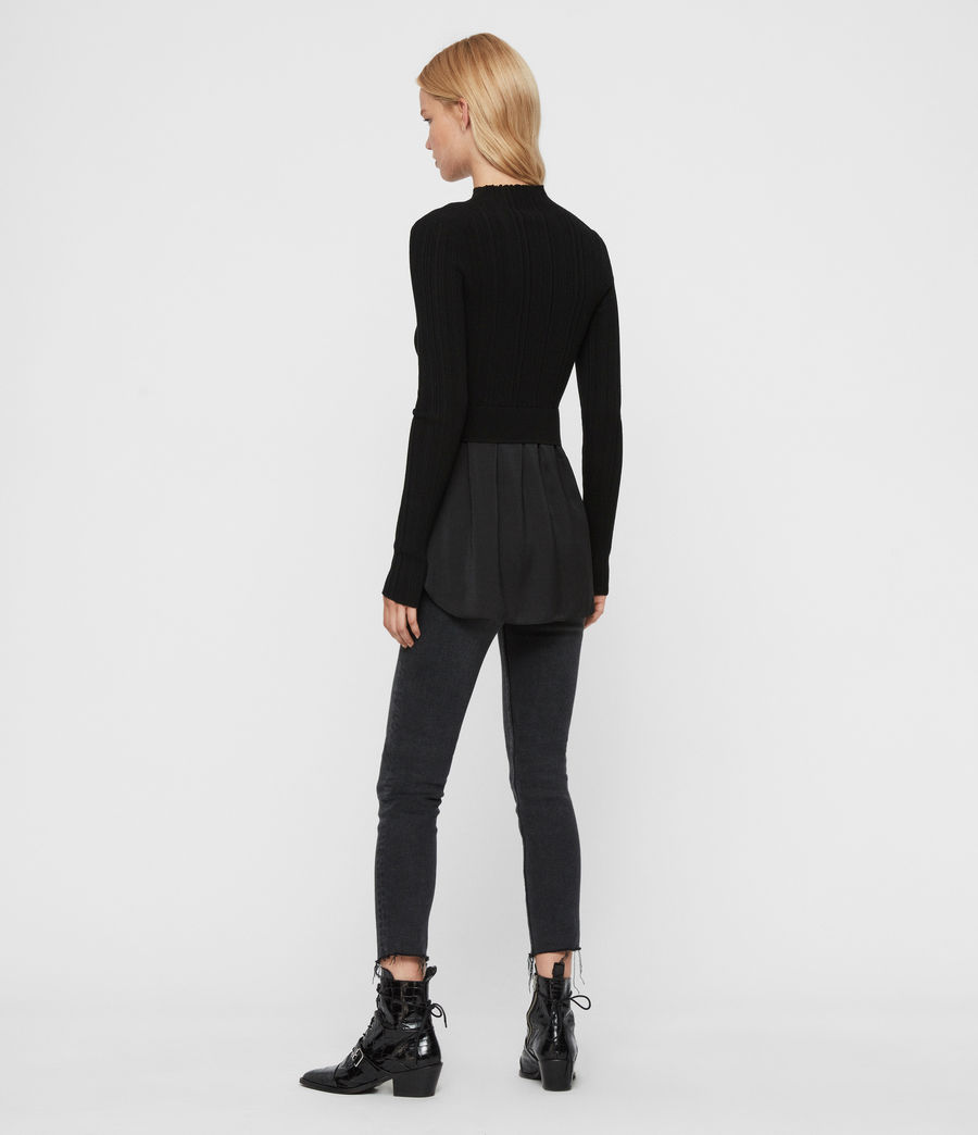 Women's Karla Shirt Jumper (black) - Image 6