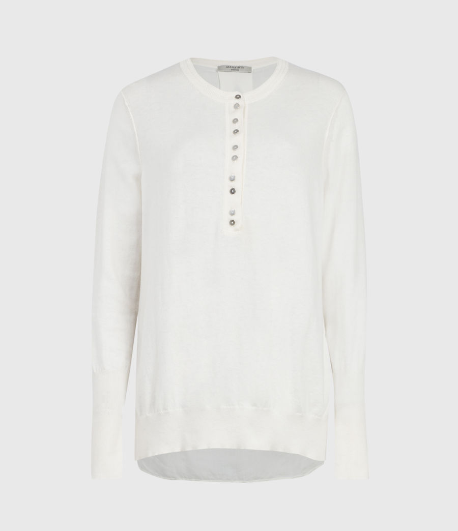 Mujer Afelia Cashmere Blend Sweater (veil_white) - Image 2