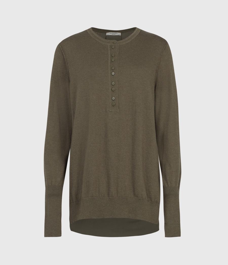 Mujer Afelia Cashmere Blend Sweater (olive_green) - Image 2