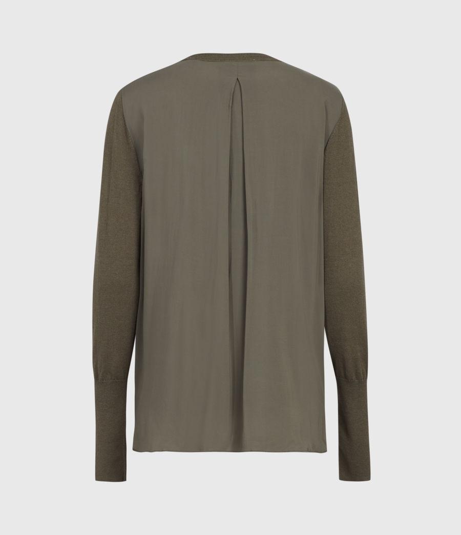 Mujer Afelia Cashmere Blend Sweater (olive_green) - Image 3