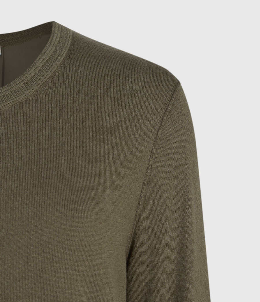 Womens Afelia Cashmere Blend Sweater (olive_green) - Image 4