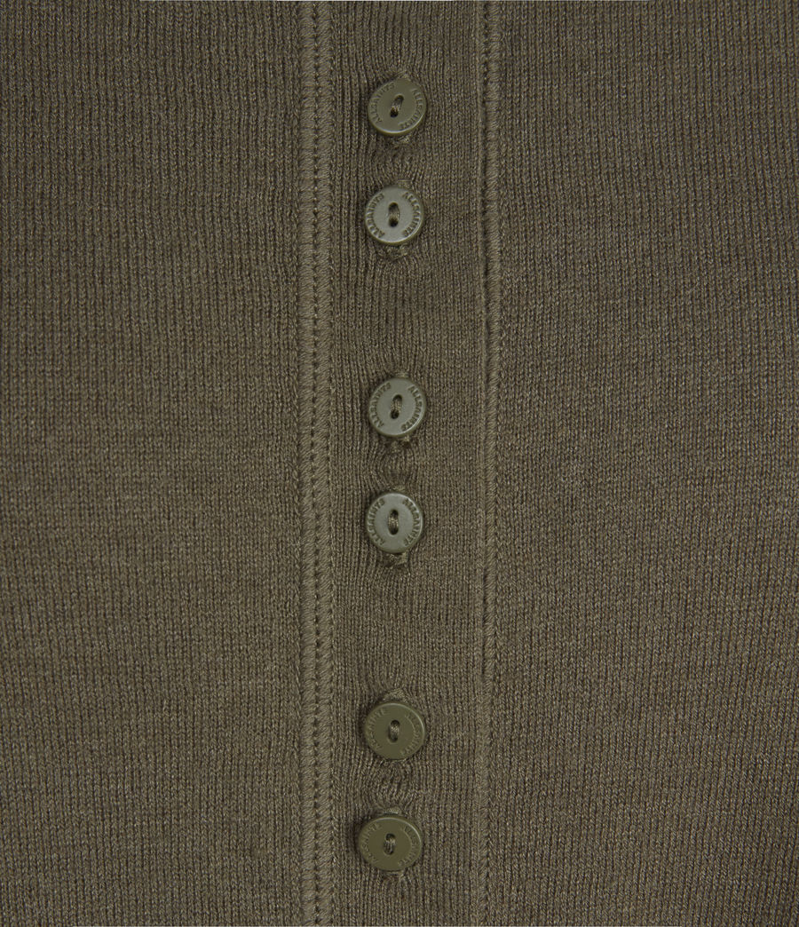 Womens Afelia Cashmere Blend Sweater (olive_green) - Image 5